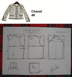 Clothing Patterns, Dress Patterns, Sewing Patterns, Fall Fashion Outfits, Diy Fashion, Chanel Style Jacket, Chanel Coat, Coin Couture, Mode Chanel