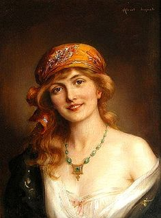 Portrait of a woman by Albert Lynch