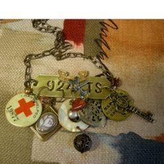 Vintage Assemblage Steampunk Industrial Chic Charm Necklace - Confessions of a Junquaholic