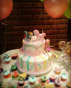 Mesa Dulce y Candy Bar Temático Mini Pony, Birthday Cake, Candy, Sweet, Desserts, Food, Candy Buffet, Candy Stations, Tailgate Desserts