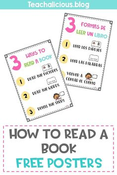 Teaching students how to read a book is one of the most important routines to teach on the first week of school for s successful school year in 1st grade.