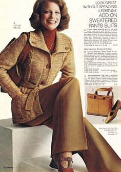 A pre-Charlie's Angels Shelley Hack modeling for JCPenney, 1975