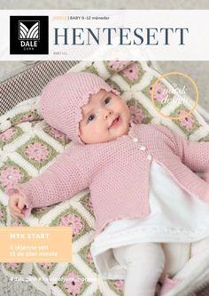 Gratis oppskrifter på hentesett til baby fra Dale Garn   Strikkeoppskrift.com