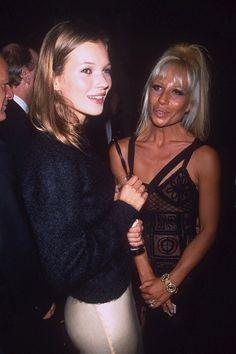 Kate Moss and Donatella Versace - February 1993