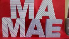 Letras em papel com 13cm cada.  Feito com papel scrapbook 180gr.   Verifique valor para conjunto de letras.  Estampa, cor e tema a definir.  *Neste valor não inclui apliques ou sobreposições. (a confirmar) R$ 9,00