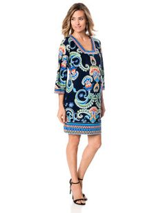 LAUNDRY by Shelli Segal A Pea in the Pod 3/4 Sleeve Maternity Dress