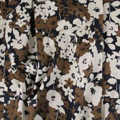 Autumn Abstract Florals - Browns on Black - Gorgeous FabricsGorgeous Fabrics