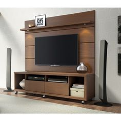 Manhattan Comfort Cabrini 1.8 TV Stand and Panel Nut-Brown, TV Stands - Manhattan Comfort, Minimal & Modern - 2