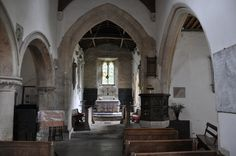 Kelmscott St George 13th century chancel arch of two chamfered orders -4 http://www.bwthornton.co.uk/visiting-stratford-upon-avon.php