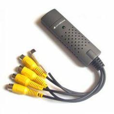 USB stick met 4 bewakingscamera ingangen, dit is de ideale oplossing voor huis beveiliging, of een kleine kantoor/winkel. Gebruikers kunnen zelf de beveiliging instellen. Dit is het meest goedkope alternatief, voor een commerciële VCR taperecorder en stabiliseert ook nog de beelden.  Meer info: onlinecamerashop.nl