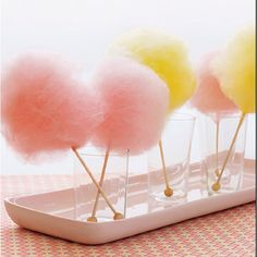 Cotton candy centerpiece - Rent a Cotton Candy Machine from www.BroadwayPartyRental.com
