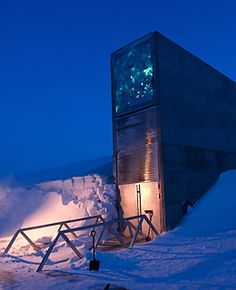 global seed vault in Northern Norway..very cool