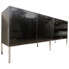 Rare Harvey Probber Black Mid-Century Sideboard | From a unique collection of antique and modern sideboards at https://www.1stdibs.com/furniture/storage-case-pieces/sideboards/