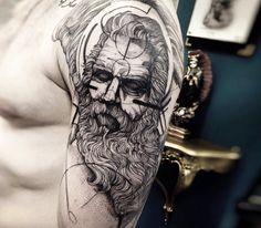zeus tattoo by fredao oliveira
