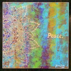 Carved Peace Mandala, Love From Bali series, 2'x2'. www.jamielockeart.com
