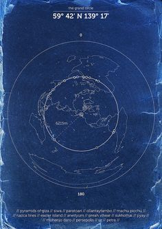 The Grand Circle.. Just as every point along the equator is 6,215 miles from both the North and South Poles, every point along this circle of ancient sites is 6,215 miles from two axis points on Earth...