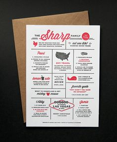 Cute addition to a christmas card! Sharp Family Year in Review by Amanda Jane Jones by Amanda Jane Jones, via Flickr