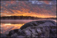 Algonquin Park - Smoke Lake at dawn Park Photography, Nature Photography, Ontario Provincial Parks, Discover Canada, Algonquin Park, Parks Canada, America And Canada, Canada Travel, Vacation Spots