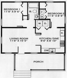 3br 2 bath 24x40 home perfect for arch cabin a girl can for 24x24 floor plan