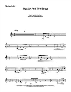 Beauty and the Beast clarinet sheet music Sheet Music Direct, Saxophone Sheet Music, Cello Music, Violin Sheet Music, Sheet Music Notes, Digital Sheet Music, Music Sheets, Guitar Tabs And Chords, Life Band