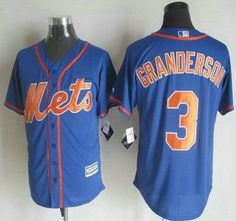 b953be7c8 New York Mets Jersey 3 Curtis Granderson Alternate Blue With Orange 2015  MLB Cool Base Jerseys