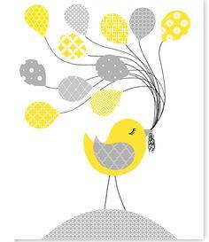 Bird Baby Decor, Gender Neutral Nursery Decor, Baby Girl, Baby Boy, Playroom, Bird Canvas Art, Bird Picture, Baby Room Decor, Baby Shower by SweetPeaNurseryArt on Etsy