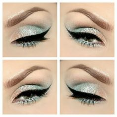 Shimmer ice blue eyeshadow