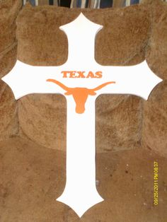 texas longhorn cross 2ft tall and 1 ft wide $55