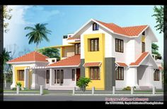 Kerala House Design Plan –  Villa Elevation
