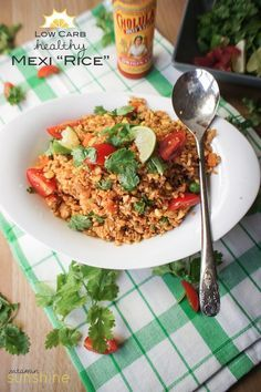 Mexi Rice -- low carb and great for dinner!