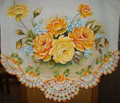 PAno de copa | Artes em Crochê e Pintura | 227068 - Elo7