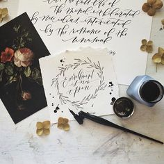 Modern Calligraphy Summit / Wildfield Paper Co via Oh So Beautiful Paper