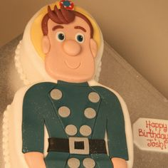 Fireman Sam cake - another inspiration Harry Birthday, 2 Birthday Cake, Birthday Ideas, Fireman Sam Cake, Cupcake Cakes, Cupcakes, Let Them Eat Cake, Police, Party Ideas