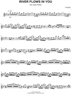 "Yiruma ""River Flows In You"" Sheet Music (Flute Solo) - Download & Print"