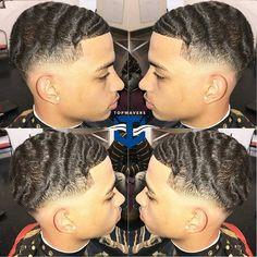 Image may contain: 3 people, closeup Black Man Haircut Fade, Temp Fade Haircut, Black Hair Cuts, Black Men Haircuts, Black Men Hairstyles, Haircut And Color, Urban Hairstyles, Mens Braids Hairstyles, Hairstyles Haircuts