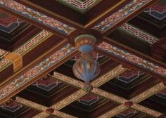synagóga Malacky detail stropu Place Of Worship, Ceiling, Contemporary, Detail, Painting, Ceilings, Painting Art, Paintings, Paint