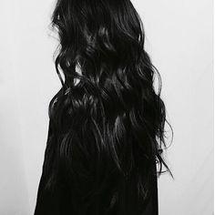 Black   Wavy   Long