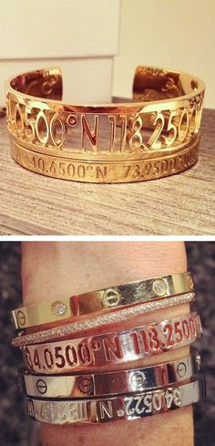 geographic coordinate jewelry
