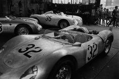 Jesse Alexander - Twenty Four Hours of Le Mans, Porsche RSK Spyder, Garage Near Le Mans at Teloche Porsche 911 Rsr, Ferdinand Porsche, Ferrari, Maserati, Sport Cars, Race Cars, Le Mans 24, Gilles Villeneuve, Vintage Porsche