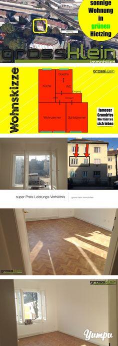 Sonnige Wohnung in 1130 Wien - zwei Zimmer um 440 EUR - Wahnsinn, oder! - Magazine with 19 pages: klassisch Zimmer Küche Kabinett-Wohnung Tolles Preisleistungsverhältnis   Zwei(2)-Zimmerwohnung in ausgezeichneter Lage!    Die Wohnung liegt im Erdgeschoss und zeichnet sich nicht nur durch seine ausgezeichnete Lage aus , sondern auch durch seinen äusserst praktikablen GRUNDRISS aus, der folgende Räume bietet.   :-) Vorzimmer - alle Räume sind zentral zu begehen :-) Schlafzimmer - ...