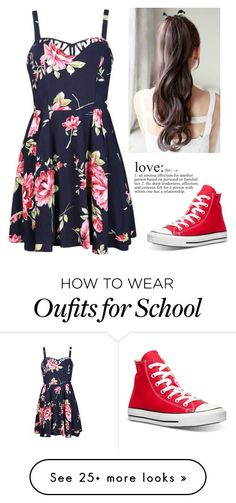 """""""Middle school dance #2"""" by maddyisasexymofo on Polyvore featuring Ally Fashion, Converse, women's clothing, women, female, woman, misses and juniors"""