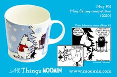 Moomin mug Skiing competition by Arabia - Moomin Moomin Mugs, Tove Jansson, My Childhood, Skiing, Competition, History, Troll, Character, Songs