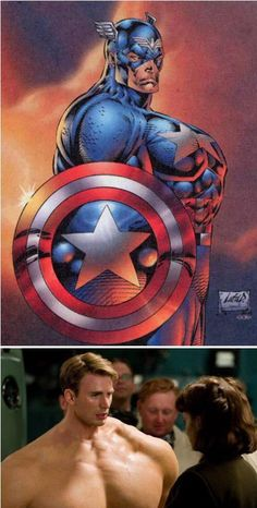 If the comic book Cap' was realistic...