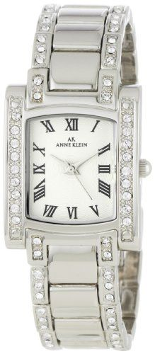 #AK #Anne Klein Women's 10-7127SVSV Swarovski Crystal Accented Silver-Tone #Watch       Perfect       http://amzn.to/HQD3on