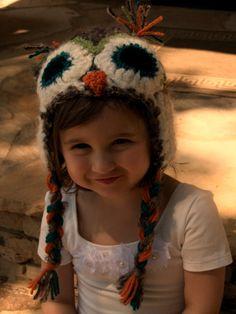 SO cute!  children's owl hats by owlbeme on Etsy