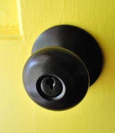 Spray painting door knobs!!