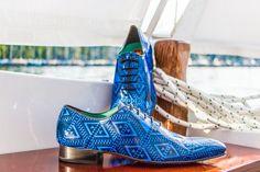 Charol Arabesco Azul - Herrenschuh Collection, Arabesque, Patent Leather, Blue Nails, Fall 2015, Handarbeit