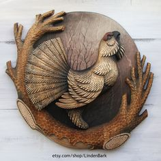 Carved Wooden Panel Products Etsy - $290 Gift for Hunter Wooden Capercaillie Wood Carving Cabin Decoration Hand Carved Wooden Panel Woodcarving Wooden Bird Woodart Wooden Sculpture #woodcarving #handmade #woodart #LindenBark #handcarved #wooden #ornaments #gift #etsy #woodland #statue #woodenart #giftideas #woodenanimal #woodlandanimal #sculpture #woodenbirds #woodenpanels #walldecor #wallart #wallpanels
