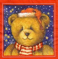 2068 Servilleta decorada Navidad