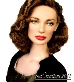 Lauren Bacall OOAK Repaint by justCreations